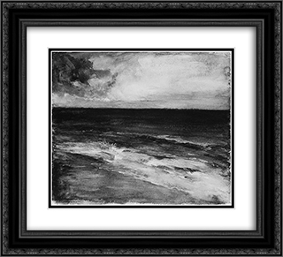 Marine 22x20 Black or Gold Ornate Framed and Double Matted Art Print by John LaFarge