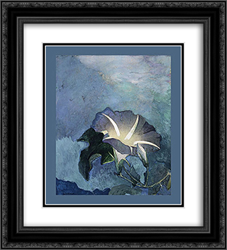 Nocturne 20x22 Black or Gold Ornate Framed and Double Matted Art Print by John LaFarge