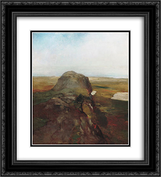Autumn Study, View over Hanging Rock, Newport, R.I. 20x22 Black or Gold Ornate Framed and Double Matted Art Print by John LaFarge