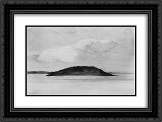 Sheep Porcupine Island, Bar Harbor, Maine, Evening Study, August 29, 1896 24x18 Black or Gold Ornate Framed and Double Matted Art Print by John LaFarge