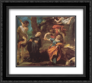 The Martyrdom of Four Saints 22x20 Black or Gold Ornate Framed and Double Matted Art Print by Correggio