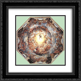 Assumption of the Virgin 20x20 Black or Gold Ornate Framed and Double Matted Art Print by Correggio