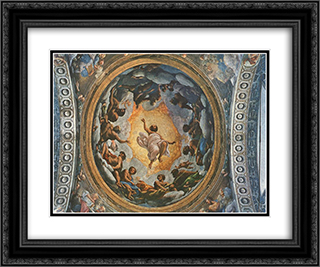 Passing away of St John 24x20 Black or Gold Ornate Framed and Double Matted Art Print by Correggio
