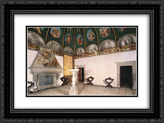 Camera di San Paolo 24x18 Black or Gold Ornate Framed and Double Matted Art Print by Correggio