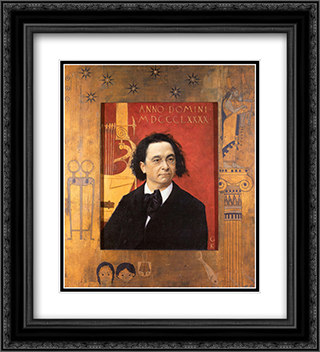 Portrait of the Pianist and Piano Teacher Joseph Pembauer 20x22 Black or Gold Ornate Framed and Double Matted Art Print by Gustav Klimt