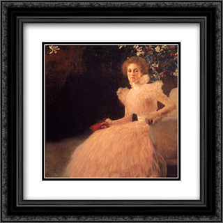 Portrait of Sonja Knips 20x20 Black or Gold Ornate Framed and Double Matted Art Print by Gustav Klimt