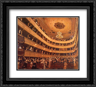 Auditorium in the Old Burgtheater, Vienna 22x20 Black or Gold Ornate Framed and Double Matted Art Print by Gustav Klimt
