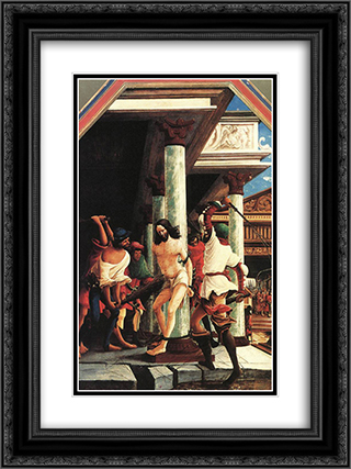 The Flagellation Of Christ 18x24 Black or Gold Ornate Framed and Double Matted Art Print by Denys van Alsloot