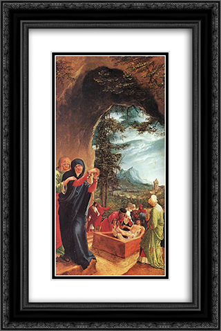 The Entombment 16x24 Black or Gold Ornate Framed and Double Matted Art Print by Denys van Alsloot
