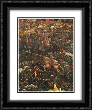The Battle Of Alexander (detail) 20x24 Black or Gold Ornate Framed and Double Matted Art Print by Denys van Alsloot