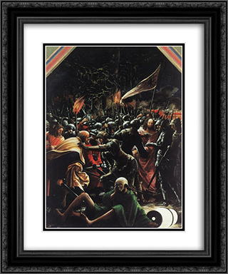 The Arrest Of Christ 20x24 Black or Gold Ornate Framed and Double Matted Art Print by Denys van Alsloot