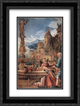 Rest On The Flight Into Egypt 18x24 Black or Gold Ornate Framed and Double Matted Art Print by Denys van Alsloot