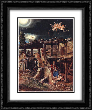 Nativity 20x24 Black or Gold Ornate Framed and Double Matted Art Print by Denys van Alsloot