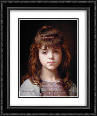 Mignon 20x24 Black or Gold Ornate Framed and Double Matted Art Print by Alexei Alexeivich Harlamoff