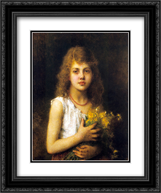 Spring Flowers 20x24 Black or Gold Ornate Framed and Double Matted Art Print by Alexei Alexeivich Harlamoff