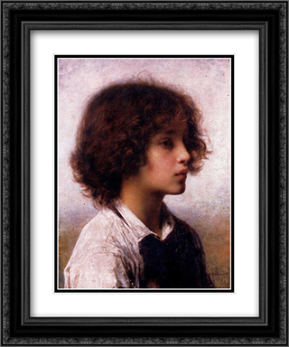 Faraway Thoughts 20x24 Black or Gold Ornate Framed and Double Matted Art Print by Alexei Alexeivich Harlamoff