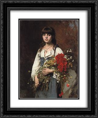 Summertime 20x24 Black or Gold Ornate Framed and Double Matted Art Print by Alexei Alexeivich Harlamoff