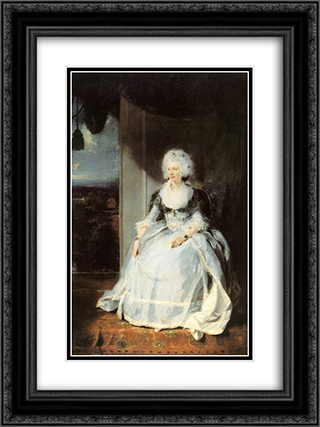 Queen Charlotte 18x24 Black or Gold Ornate Framed and Double Matted Art Print by Sir Thomas Lawrence