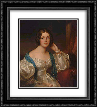 Lady Constance Carruthers 20x22 Black or Gold Ornate Framed and Double Matted Art Print by Sir Thomas Lawrence
