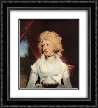 Martha Carry 20x22 Black or Gold Ornate Framed and Double Matted Art Print by Sir Thomas Lawrence