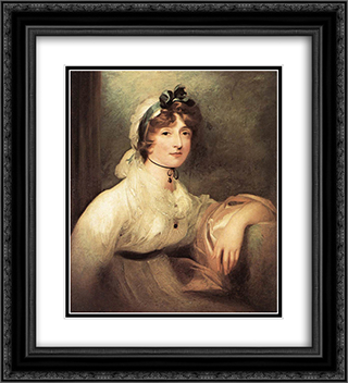 Diana Stuart, Lady Milner 20x22 Black or Gold Ornate Framed and Double Matted Art Print by Sir Thomas Lawrence