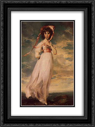 Pinkie (Sarah Barrett Moulton) 18x24 Black or Gold Ornate Framed and Double Matted Art Print by Sir Thomas Lawrence