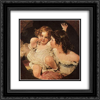 Calmady Children 20x20 Black or Gold Ornate Framed and Double Matted Art Print by Sir Thomas Lawrence