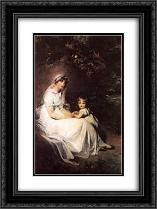 Lady Templeton and her Son 18x24 Black or Gold Ornate Framed and Double Matted Art Print by Sir Thomas Lawrence