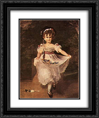 Miss Murray 20x24 Black or Gold Ornate Framed and Double Matted Art Print by Sir Thomas Lawrence