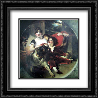 Mrs Maguire and her Son 20x20 Black or Gold Ornate Framed and Double Matted Art Print by Sir Thomas Lawrence