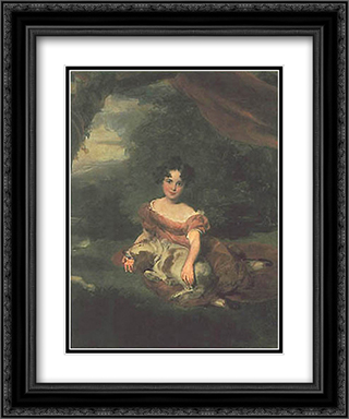Portrait of Miss Peel 20x24 Black or Gold Ornate Framed and Double Matted Art Print by Sir Thomas Lawrence
