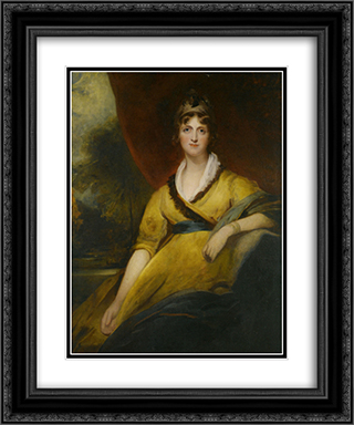 Portrait of Mary Countess of Inchiquin 20x24 Black or Gold Ornate Framed and Double Matted Art Print by Sir Thomas Lawrence