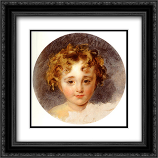 Portrait Of The Hon, George Fane (1819 ' 1848), Later Lord Burghersh, When A Boy 20x20 Black or Gold Ornate Framed and Double Matted Art Print by Sir Thomas Lawrence