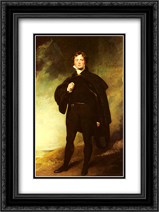 Portrait Of George Nugent Grenville, Lord Nugent 18x24 Black or Gold Ornate Framed and Double Matted Art Print by Sir Thomas Lawrence