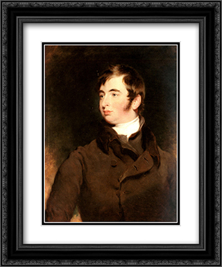 Portrait of George Charles Pratt, Earl of Brecknock (1799'1866) 20x24 Black or Gold Ornate Framed and Double Matted Art Print by Sir Thomas Lawrence