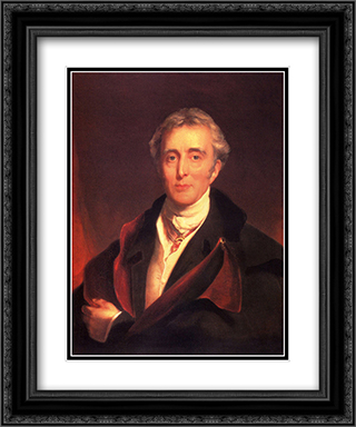 Portrait Of The Duke Of Wellington 20x24 Black or Gold Ornate Framed and Double Matted Art Print by Sir Thomas Lawrence