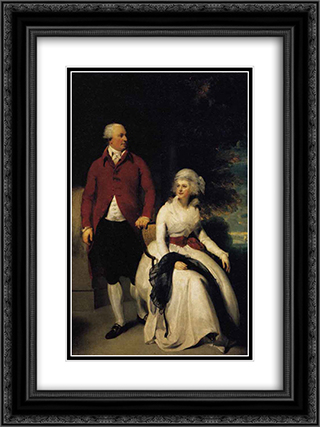 Mr and Mrs John Julius Angerstein 18x24 Black or Gold Ornate Framed and Double Matted Art Print by Sir Thomas Lawrence
