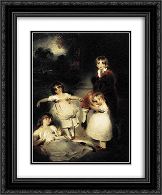 Portrait of the Children of John Angerstein 20x24 Black or Gold Ornate Framed and Double Matted Art Print by Sir Thomas Lawrence