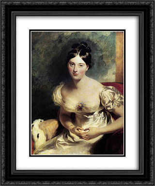 Margaret, Countess of Blessington 20x24 Black or Gold Ornate Framed and Double Matted Art Print by Sir Thomas Lawrence