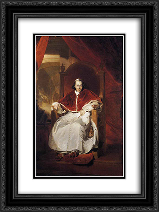 Pope Pius VII 18x24 Black or Gold Ornate Framed and Double Matted Art Print by Sir Thomas Lawrence