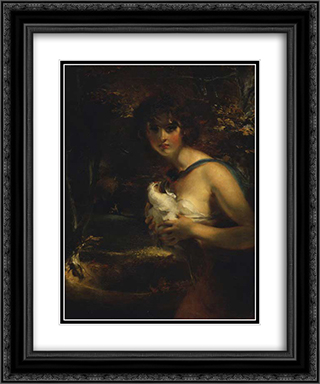 A Gypsy Girl 20x24 Black or Gold Ornate Framed and Double Matted Art Print by Sir Thomas Lawrence