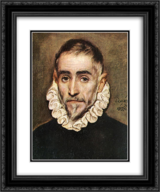 Portrait of an Elder Nobleman 20x24 Black or Gold Ornate Framed and Double Matted Art Print by El Greco