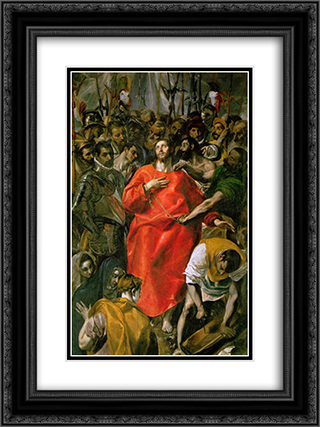The Spoliation 18x24 Black or Gold Ornate Framed and Double Matted Art Print by El Greco