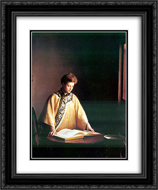 Yellow Jacket 20x24 Black or Gold Ornate Framed and Double Matted Art Print by William McGregor Paxton