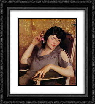 Pretty Girl 20x22 Black or Gold Ornate Framed and Double Matted Art Print by William McGregor Paxton