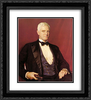Portrait of Mr. Charles Sinkler 20x22 Black or Gold Ornate Framed and Double Matted Art Print by William McGregor Paxton
