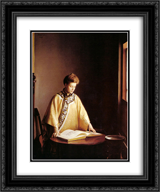 The Yellow Jacket 20x24 Black or Gold Ornate Framed and Double Matted Art Print by William McGregor Paxton