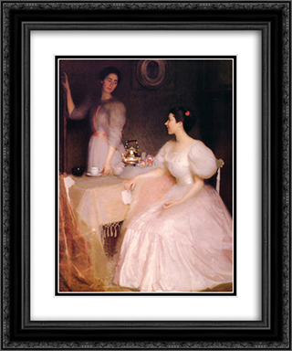 Mollie Scott and Dorothy Tay 20x24 Black or Gold Ornate Framed and Double Matted Art Print by William McGregor Paxton