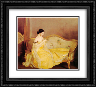 The Crystal 22x20 Black or Gold Ornate Framed and Double Matted Art Print by William McGregor Paxton