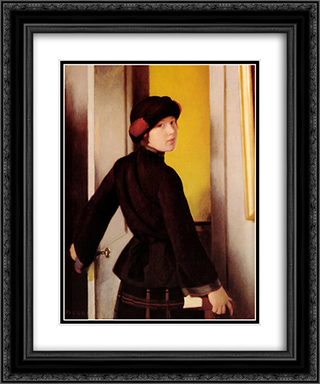 Leaving the Studio 20x24 Black or Gold Ornate Framed and Double Matted Art Print by William McGregor Paxton
